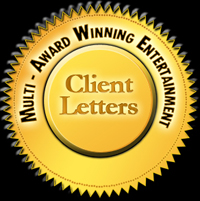 Corporate Entertainer Letters of Reference